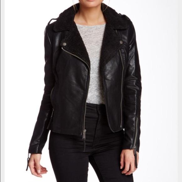 a679236ed190 BCBGeneration Jackets   Blazers - BCBGeneration Faux Leather Moto Jacket