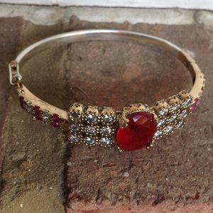 Jewelry - NATURAL RUBY TOPAZ BANGLE