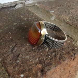 Jewelry - NATURAL AGATE 925 RING