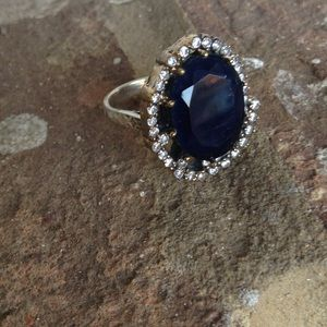 Jewelry - NATURAL DEEP SAPPHIRE TOPAZ RING