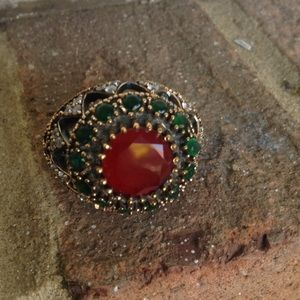 Jewelry - VINTAGE 👍RUBY 👌EMERALD 👌TOPAZ ❤️RING