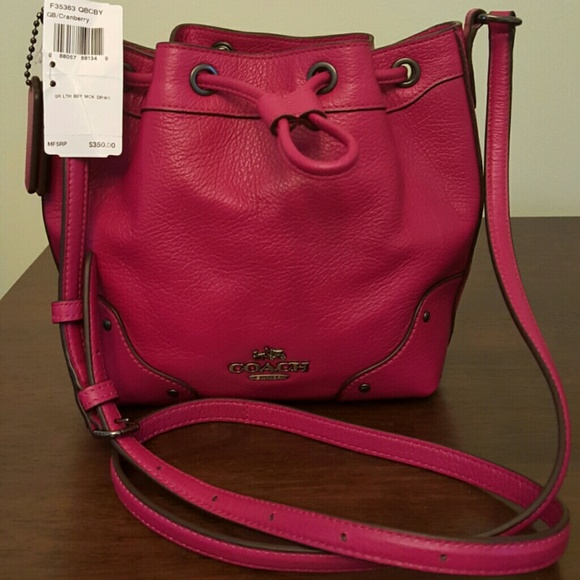 56% off Coach Handbags - Coach Grain Leather Baby Mickie ...