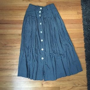 Dresses & Skirts - Vintage blue skirt with white buttons. Never worn