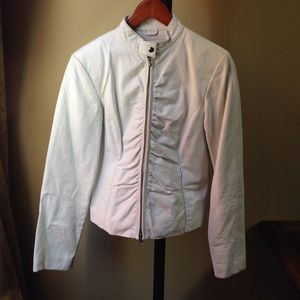 Wilsons White Leather Motorcycle Jacket, size S