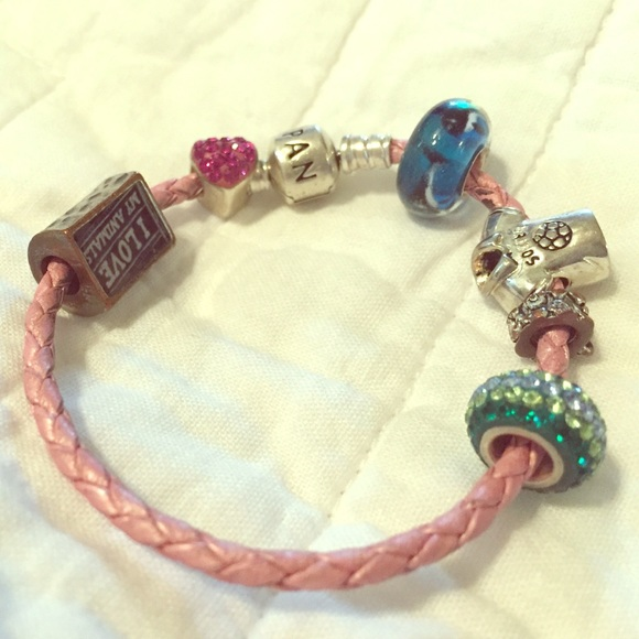 e8cb9cc7b ... new zealand pandora pink rope bracelet with charms 9c620 efbb1 ...
