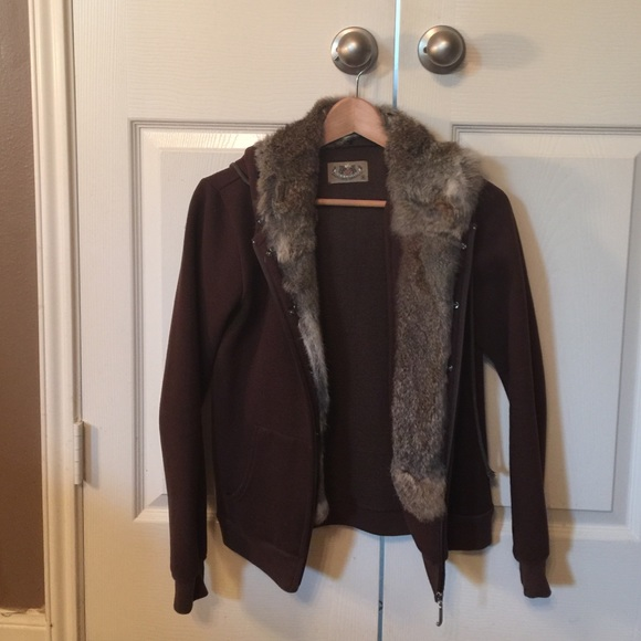 5826f6ffbaff Juicy Couture Jackets   Blazers - Juicy Couture rabbit fur lined hoodie -  reduced