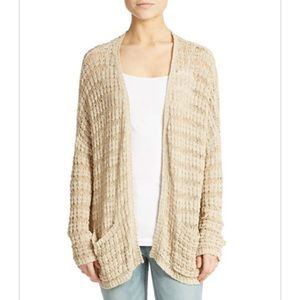 NWT Free People tan knit long-sleeved sweater