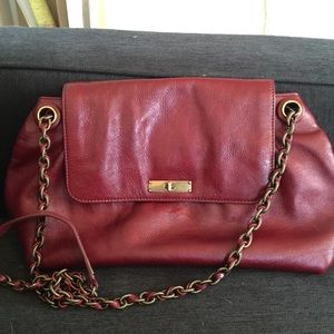 Marc Jacobs leather burgundy bag.