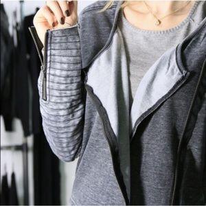 Boutique Jackets & Blazers - Moto Comfy Grey Jacket *LAST!