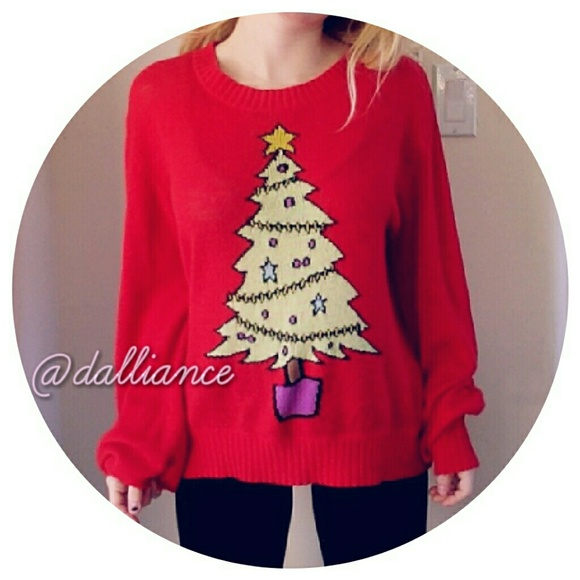 Wildfox Christmas Sweatshirt.Wildfox White Label Christmas Tree Sweater