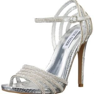 b8549d015be Steve Madden Shoes - Steve Madden Caged Dress Sandal - Silver