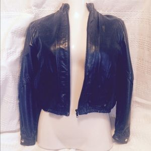 Wilsons Leather and Suede Jackets & Blazers - Vintage Genuine  Black Leather Jacket