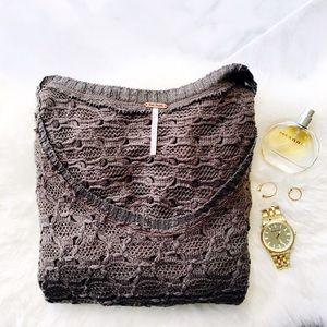 ⚬Free People⚬Open Knit Crochet Sweater