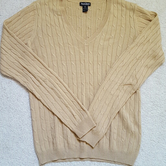 Misses Tan Lightweight Cable Knit Sweater XL from Naimah's closet ...