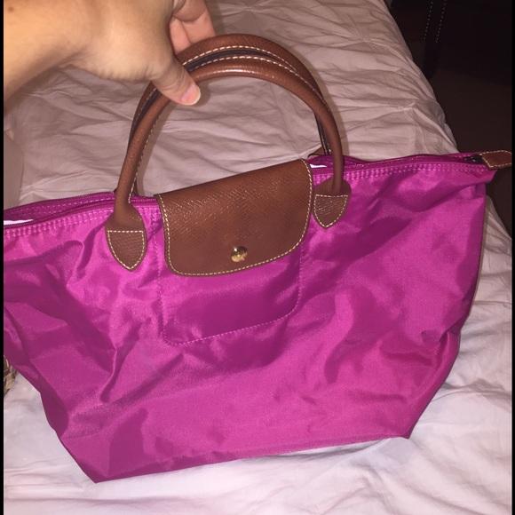 fb10bd4b0fd2 Longchamp Handbags - Longchamp large le pilage hot pink tote