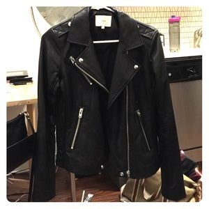 Iro black leather biker Tara jacket