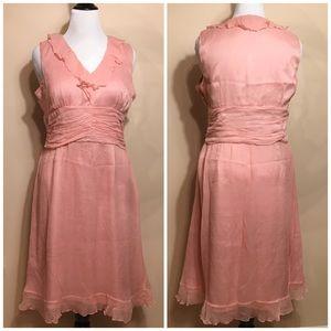 W.D.N.Y silk pink dress