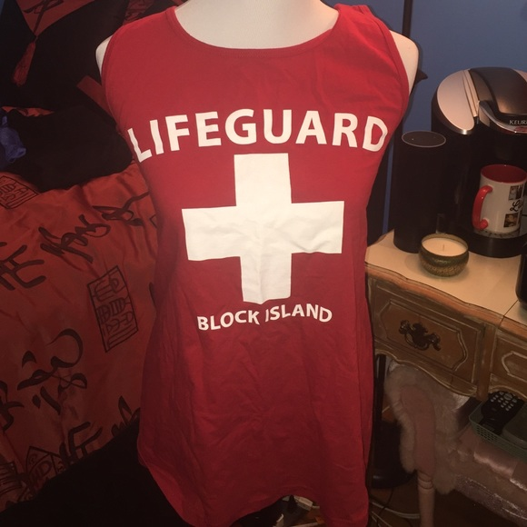 20a6923b7e490 Fruit of the Loom Tops - Brand new block island lifeguard tank women s xl