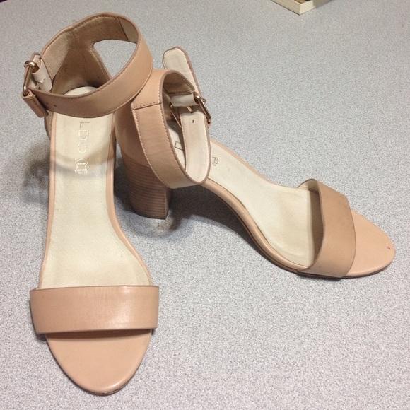 97b3e042be83 ALDO Shoes - Aldo leather nude sandals or heels