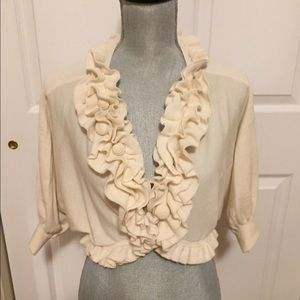 ❄️Gorgeous Knitted Winter Ivory Colored Shrug-NWOT