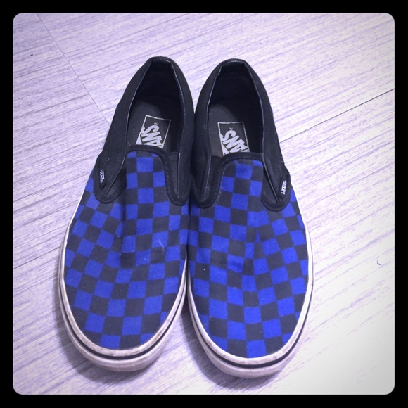 ab754e19d18fb3 Vans Shoes - Vans- blue and black checkered