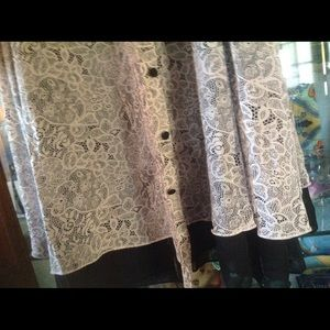 Dresses - Fantastically c black lace ruffle not for sale yet