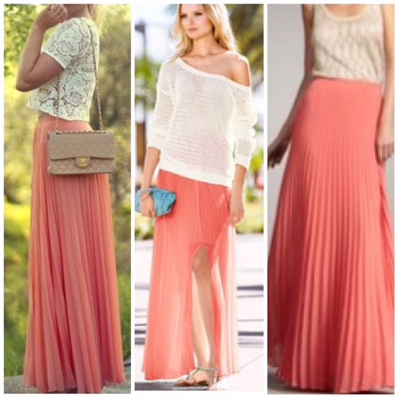 38c2814bc5 Victoria's Secret Skirts | Accordion Pleated Maxi Skirt | Poshmark
