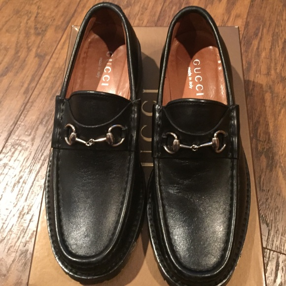 c200a420e56 Gucci Shoes - authentic Gucci black loafers with lugged soles