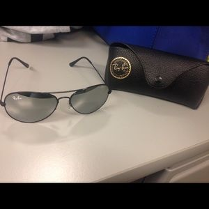 Authentic black Raybans. ONE DAY SALE MAKE OFFER.