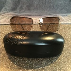Versace gold and brown sunglasses