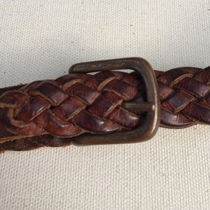 Other - Genuine brown braided leather kids belt
