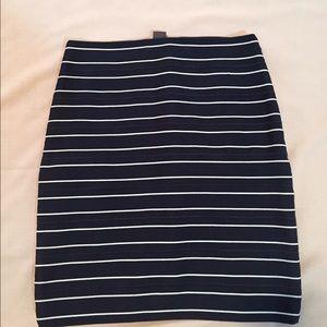 Armani Exchange Dresses & Skirts - Armani navy white bandage skirt