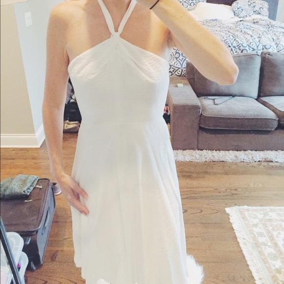 J Crew white halter dress