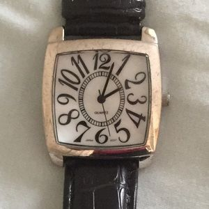 Watch with black band