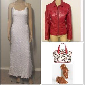 ☑️70's VINTAGE☑️ white maxi dress