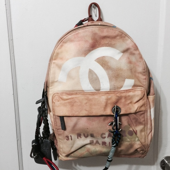 Chanel Bags Chanel Graffiti Backpack Large Poshmark
