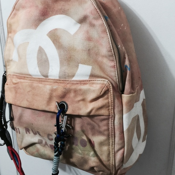 chanel backpack. chanel bags - chanel graffiti backpack large