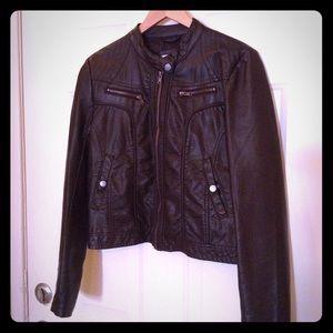 Xhilaration Jackets & Blazers - Dark Brown Faux Leather Jacket