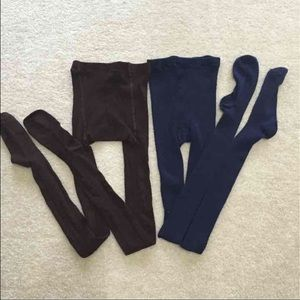 Pants - ⚡️final price⚡️ brown and navy tights. Sz large
