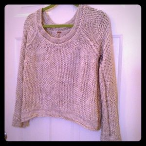 Free People Sweaters - Grey and White Free People Slouchy Sweater