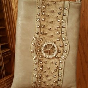 Rustic Couture leather embellished Crossbody bag