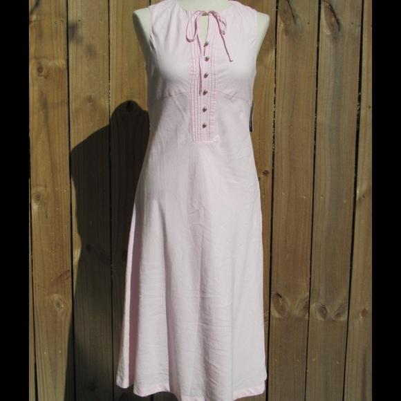 Nautica Dresses & Skirts - Adorable NWT pink linen dress by Nautica!