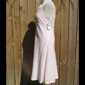 Nautica Dresses - Adorable NWT pink linen dress by Nautica!