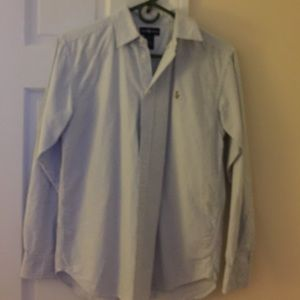Ralph Lauren Oxford button down. Blue and white.