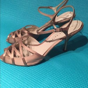 Shoes - Gold satin heels