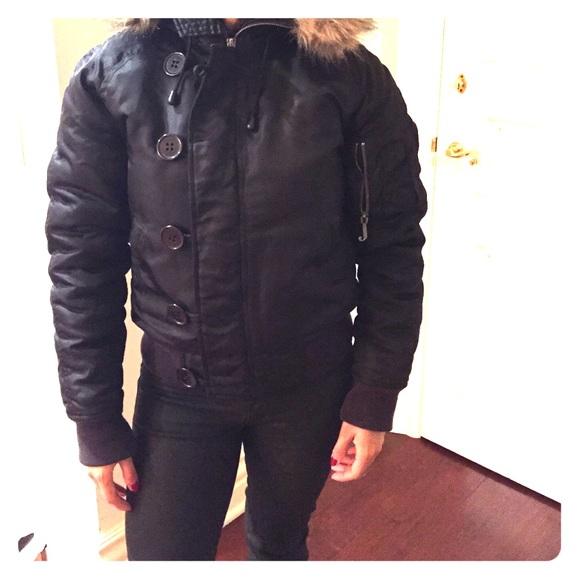 46cfc4a8 Juicy Couture Jackets & Coats | Authentic Bomber Jacket W Faux Fur ...