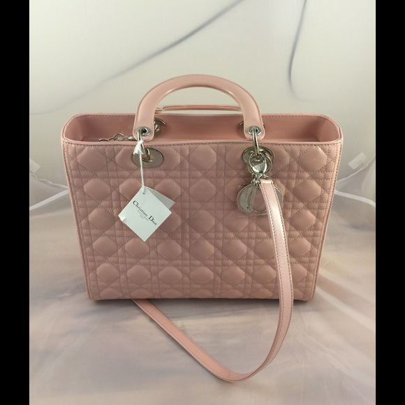 8bfadd69bea7 Lady Dior nude pink color 7 block large size