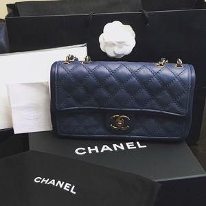 CHANEL Lambskin Flap Shoulder Bag