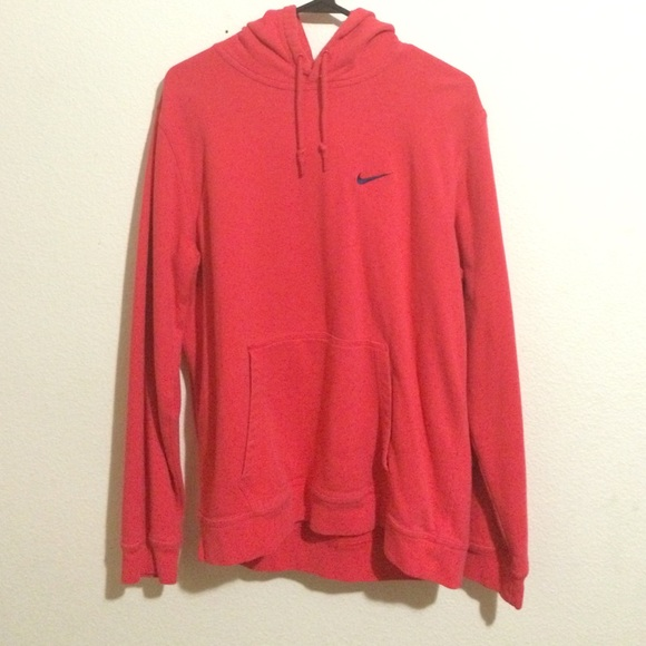 5128ffd802 Fluorescent NIKE Pink Salmon colored hoodie. M 5635c49f7e7ef642550196f5