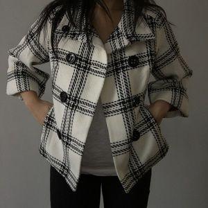 Express Jackets & Blazers - Express black and white 3/4 sleeve jacket S